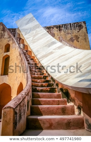 old astrology observatory in jaipur india stock photo © mikko