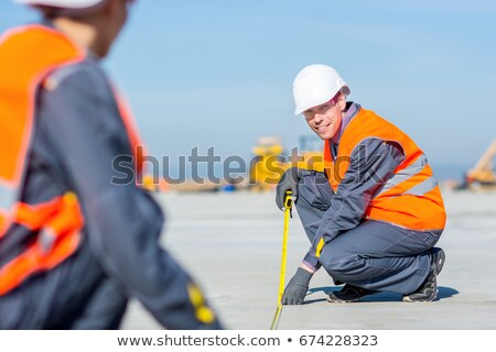 Construction worker kneeling Stock photo © photography33