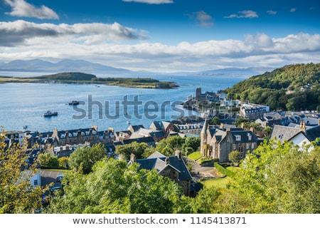 Шотландии Панорама Крыши города небе воды Сток-фото © Julietphotography