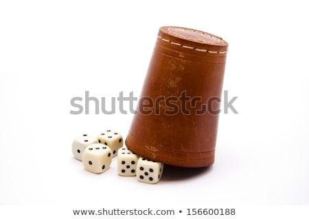 Kocka csésze három sport zöld jókedv Stock fotó © Roka