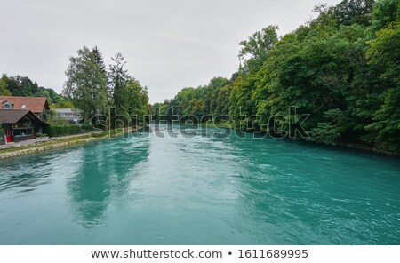 view on the river near the ancient city of Bern, Swiss  Stock photo © dacasdo