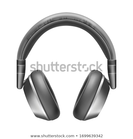 Isolated Black and Silver Bluetooth Headset Stock photo © TeamC