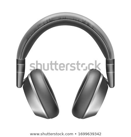 изолированный черный серебро bluetooth гарнитура современных Сток-фото © TeamC
