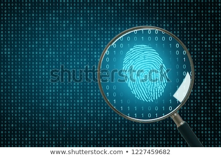 Vergrootglas vingerafdruk witte zwarte Stockfoto © wavebreak_media