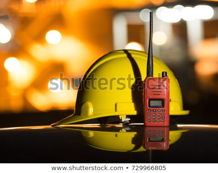 Girl with yellow helmet and radio Stock photo © photography33