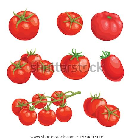 Friss piros paradicsomok fa asztal étel gyümölcs Stock fotó © Marfot