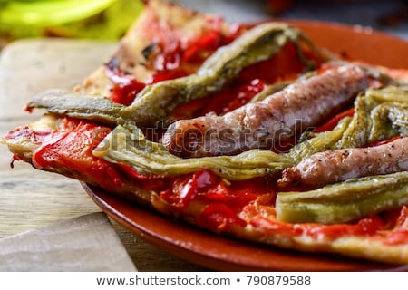 coca de recapte, typical catalan savory cake similar to pizza Stock photo © nito