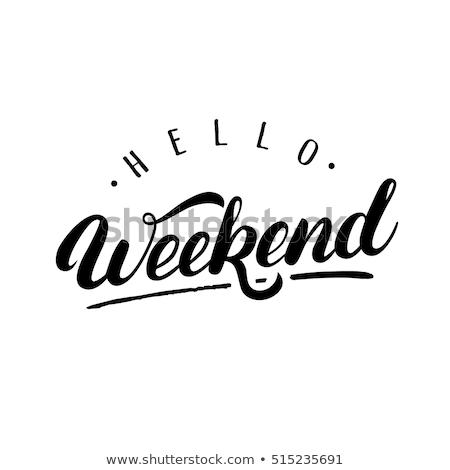 Fin de semana tipografía estilo retro textura diseno fondo Foto stock © maxmitzu