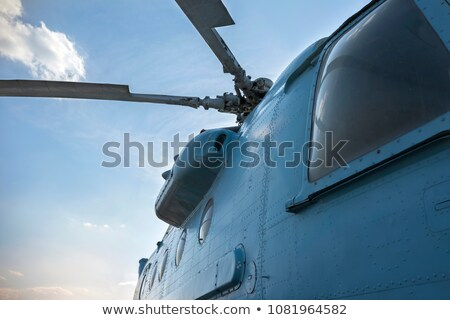 Blue helicopter on field Stock photo © pixachi