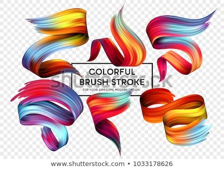Fényes szín élénk erős ecset színek Stock fotó © Anterovium