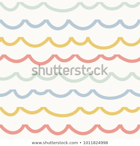seamless pastel colors horizontal wave pattern  Stock photo © creative_stock