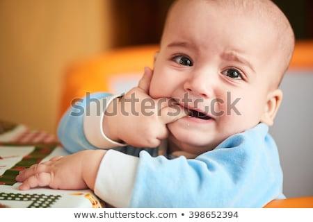 bebé · juguete · seis · mes · aislado - foto stock © fotoyou
