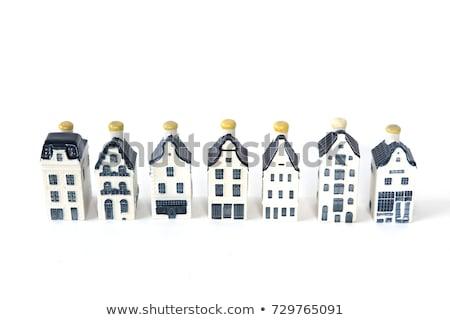 evler · Amsterdam · su · şehir - stok fotoğraf © hofmeester
