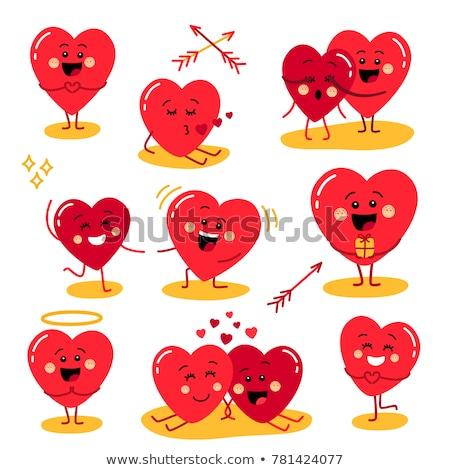 Heart character Stock photo © dvarg