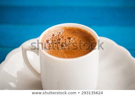 Tasse traditionnel café laiton table Photo stock © jeliva