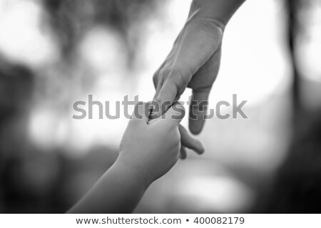 child and adult hands stock photo © c-foto