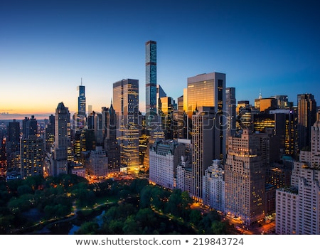 Manhattan Empire State Binası üst panoramik Stok fotoğraf © meinzahn