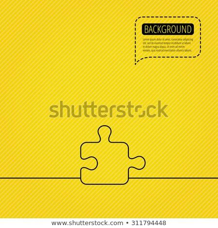 Logika narancs puzzle fehér tanul Stock fotó © tashatuvango