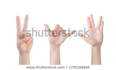руки · стороны · знак · изолированный - Сток-фото © dgilder