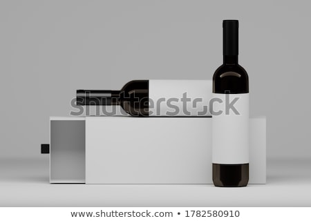 Dark box for bottles Stock photo © vavlt