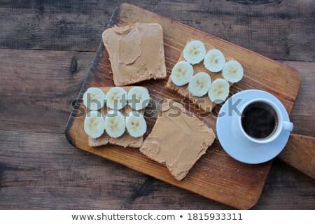 Saludable desayuno salvado plátano leche Foto stock © raphotos