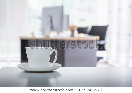 Tea time break in workplace Stock photo © nalinratphi