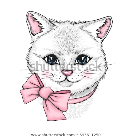 sketch cute bow in vintage style stock photo © kali
