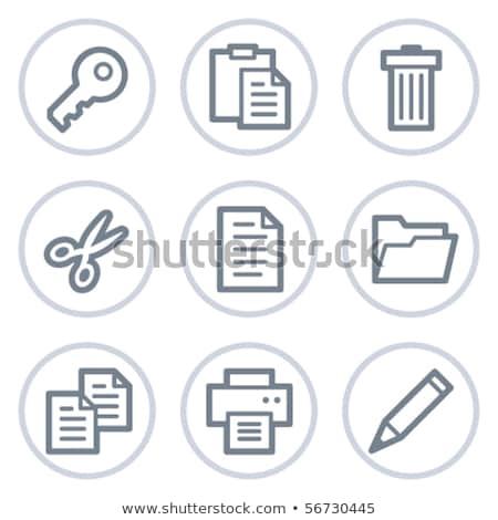 Folder Icons - 1 -- Outline Button Stock photo © Palsur