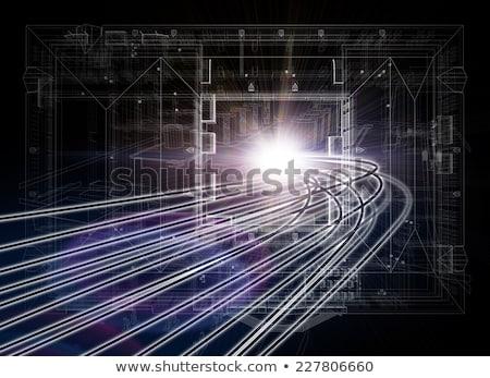 planı · karanlık · mavi · baskı · stil · zemin - stok fotoğraf © cherezoff