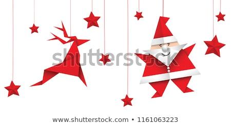 vector white paper christmas stars stock photo © orson