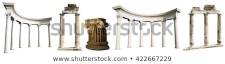 Ruines anciens marbre colonnes bâtiment design Photo stock © alinamd