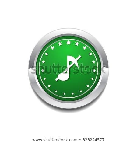 Mute Circular Vector GreenWeb Icon Button Stock photo © rizwanali3d