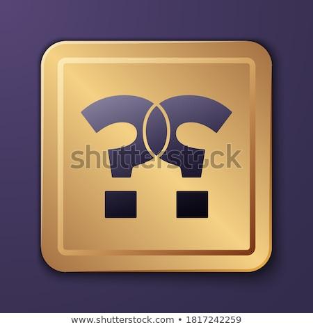 Sss mor vektör ikon dizayn yardım Stok fotoğraf © rizwanali3d