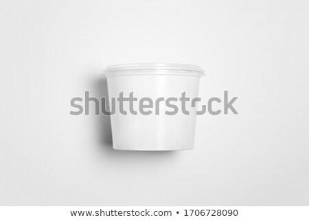 Open witte voedsel roze picknick Stockfoto © dezign56