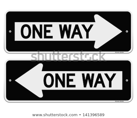 Isolated one way sign Stock photo © njnightsky