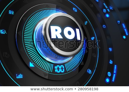 Fekete irányítás konzol kék háttérvilágítás növekedés Stock fotó © tashatuvango