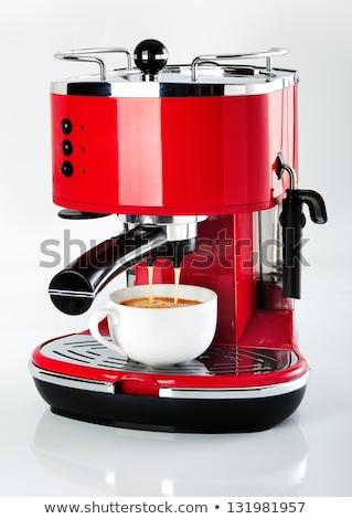 красный Vintage капучино кофе стекла Сток-фото © Witthaya