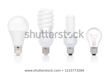 Energy saving compact fluorescent light bulb isolated Stock photo © ozaiachin