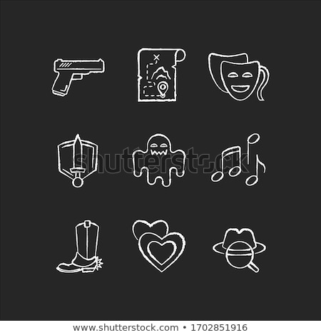 Detective sketch icons set. Stock photo © Sonya_illustrations