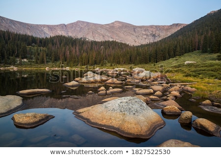 Stock photo: Wilderness alpine lake