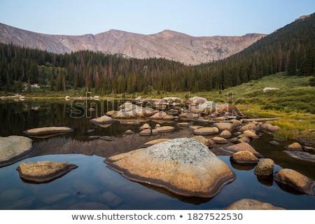 高山 湖 山 ストックフォト © eppicphotos