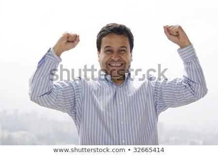retrato · feliz · jovem · homem · branco - foto stock © alexandrenunes