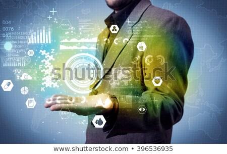 zakenman · groei · grafiek · wereldkaart · business - stockfoto © suriyaphoto