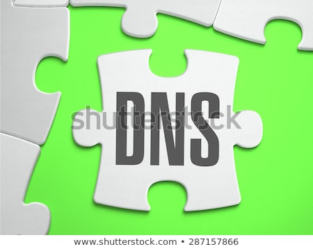 DNS - Jigsaw Puzzle with Missing Pieces. Stock photo © tashatuvango