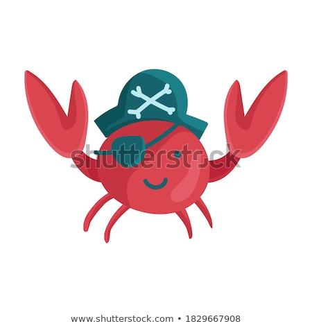 Krab marynarz ilustracja morza lata statku Zdjęcia stock © adrenalina