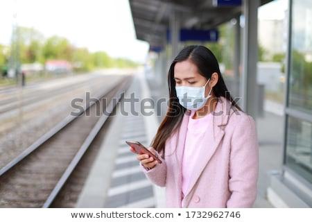 online · treno · arancione · pulsante · illustrazione - foto d'archivio © make