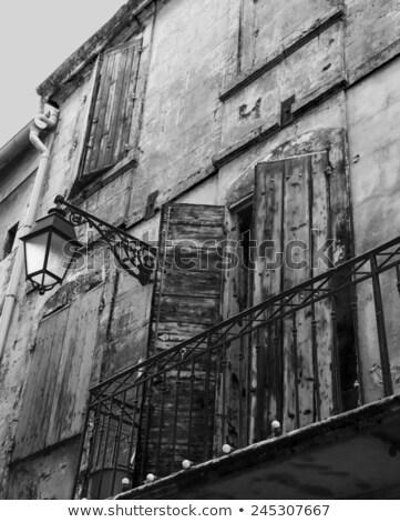 vieux · ville · rue · rouge · rétro - photo stock © hofmeester