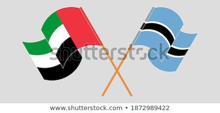 United Arab Emirates and Botswana Flags  Stock photo © Istanbul2009