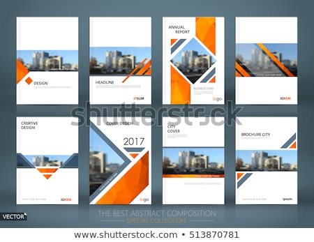 Brochure front page template with material design Stock photo © orson