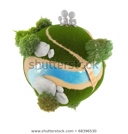 3d small people   family picnic stock photo © anatolym